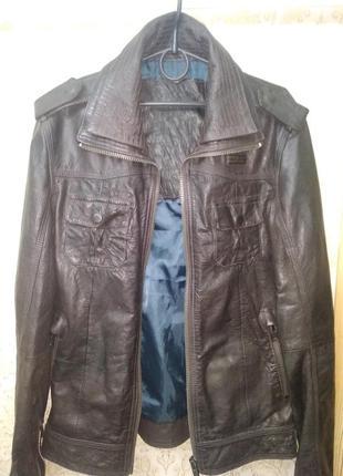 Мужская кожаная куртка superdry (ryan ms5iy028f2) оригинал