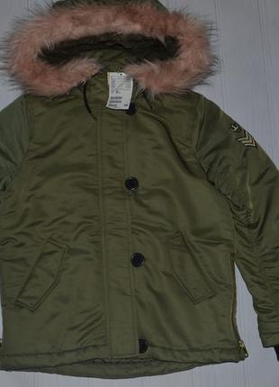 Нова крута куртка н&м розмір 10-11років (146см.) демісезонна