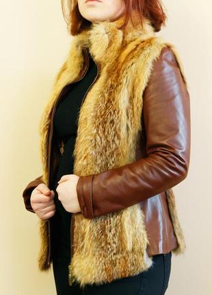 Куртка с мехом лисицы mulimen