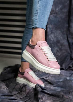 Шикарные женские кроссовки/ кеды alexander mcqueen pink 😍 (весна/ лето/ осень)