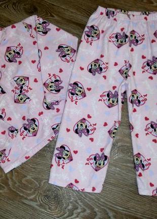 Пижама теплая для девочки 3-4года