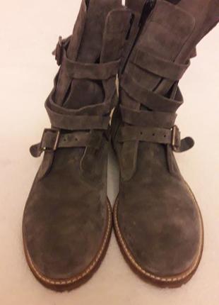 Стильные замшевые ботинки фирмы oxmox ( италия) р. 41 стелька 26,5см3