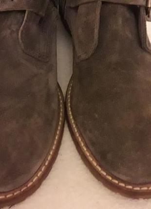 Стильные замшевые ботинки фирмы oxmox ( италия) р. 41 стелька 26,5см5
