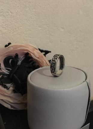 Серебряное мужское женское кольцо