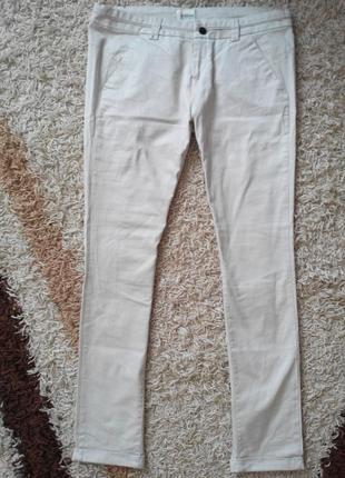 Штаны, штани, брюки, bershka бежевые, 42(14)