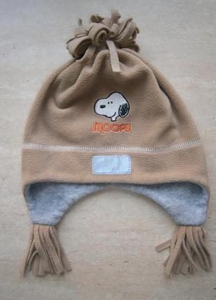 Флисовая шапочка ушанка peanuts by schutz 6-10 лет с светоотражателем