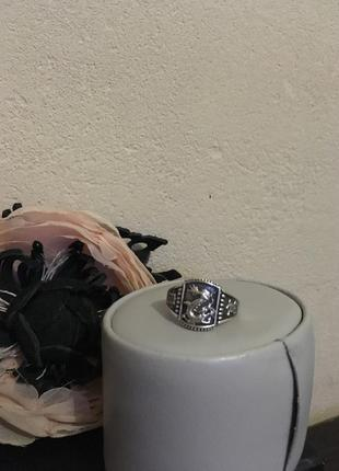Мужское серебряное кольцо перстень с драконом