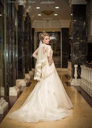 Сказочное шикарное свадебнре платье s.1 фото