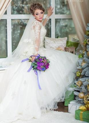 Сказочное шикарное свадебнре платье s.2 фото