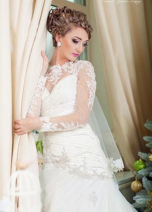 Сказочное шикарное свадебнре платье s.3 фото