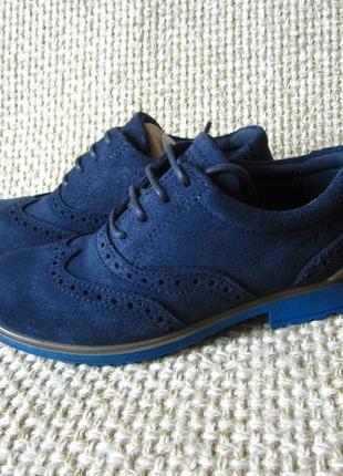Туфлі дитячі шкіряні сині ecco cohen 730152 розмір 28