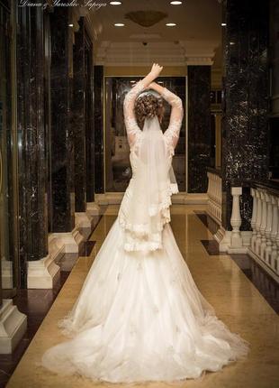 Сказочное шикарное свадебнре платье s.4 фото