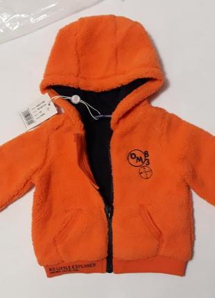 Весенняя брендовая куртка кофта на 3-6 мес. рост 62/68. original marines. италия.1 фото