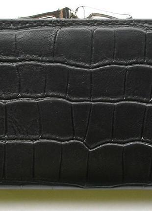 Кожаный кошелек портмоне крокодил fani, 100% натуральная кожа, есть доставка бесплатно2