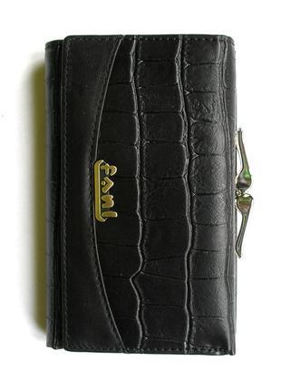 Кожаный кошелек портмоне крокодил fani, 100% натуральная кожа, есть доставка бесплатно4