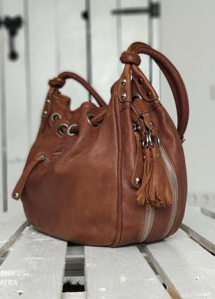 Clarys 100% оригинальная крупная кожаная сумка.
