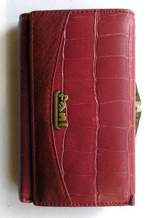 Кожаный кошелек портмоне крокодил fani, 100% натуральная кожа, есть доставка бесплатно3