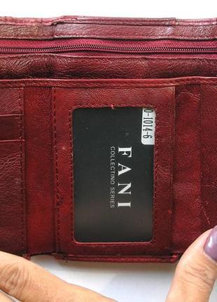 Кожаный кошелек портмоне крокодил fani, 100% натуральная кожа, есть доставка бесплатно6