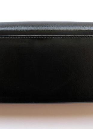 Большой кожаный кошелек черная роза, 100% натуральная кожа, есть доставка бесплатно2