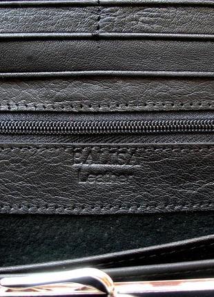 Большой кожаный кошелек черная роза, 100% натуральная кожа, есть доставка бесплатно5