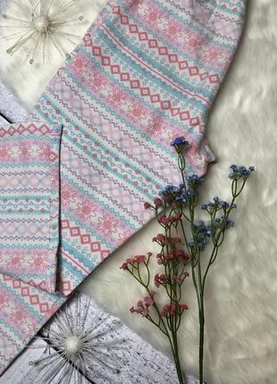 Пижамные штаны розовые хлопок /размер xs/george