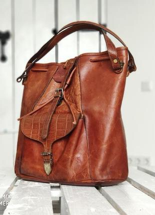 El campero. авторская сумка из натуральной кожи.