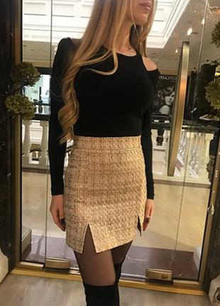 Shoho chic твидовая юбка