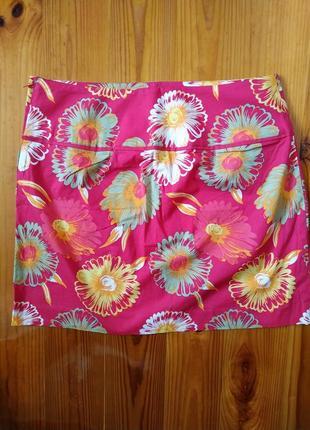 Летняя хлопковая красочная юбка h&m m/38