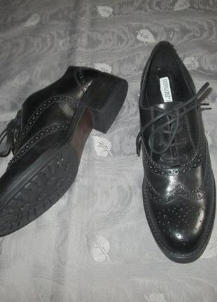 Новые оксфорды donna piu кожаные женские туфли черные броги италия