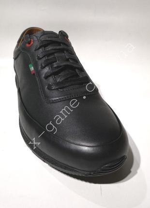 Туфли мужские wishot 648-blk-blk натуральная кожа