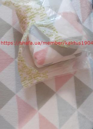 Нежный уютный плед с треугольниками yves rocher (ив роше)5