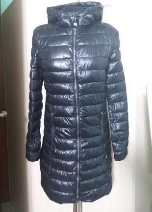 Куртки удлененные стеганное пальто amisu 34-38рр капюшон цвета разные2 фото
