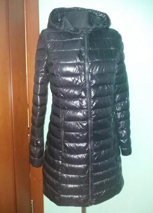 Куртки удлененные стеганное пальто amisu 34-38рр капюшон цвета разные3 фото