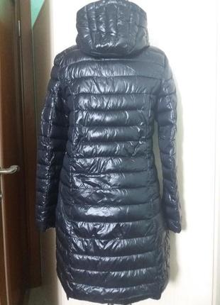 Куртки удлененные стеганное пальто amisu 34-38рр капюшон цвета разные4 фото