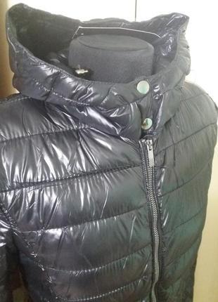 Куртки удлененные стеганное пальто amisu 34-38рр капюшон цвета разные5 фото