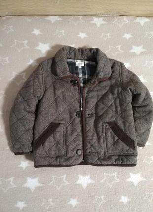 Очень классная куртка жакет утепленная на 3-4 года от bows&arrows