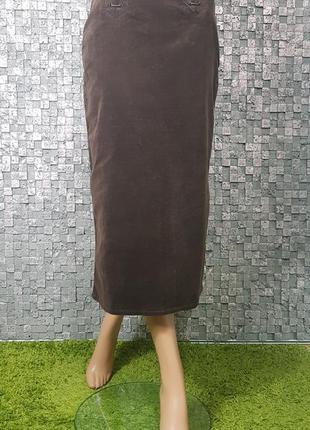 f894e7979d0 Шоколадная вельветовая юбка