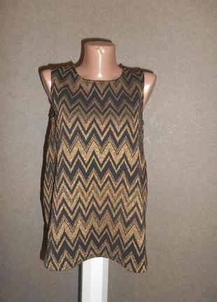 Красивая блуза с люрексовой нитью 8 р.
