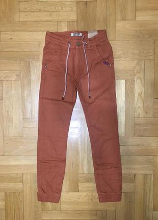 Крутые джинсы брюки-джоггеры, 134-164
