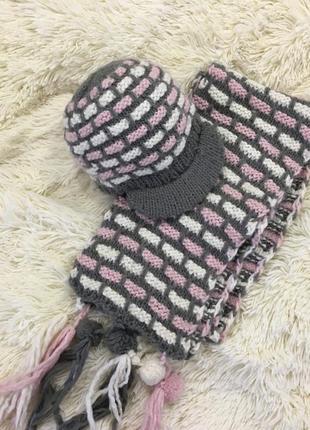 Набор шапка и шарф wojcik