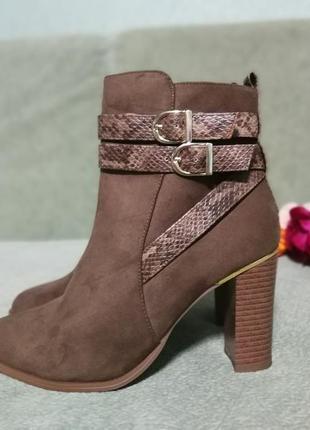 Рыжие ботиночки деми,new look
