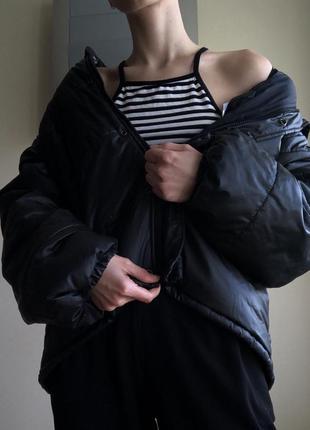 Стильная дутая куртка пуховик reclaimed vintage. модный тренд сезона!