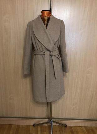 Шерстяное пальто халат1