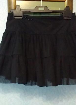Пышная короткая юбка пачка  туту фатиновая евросетка тюль