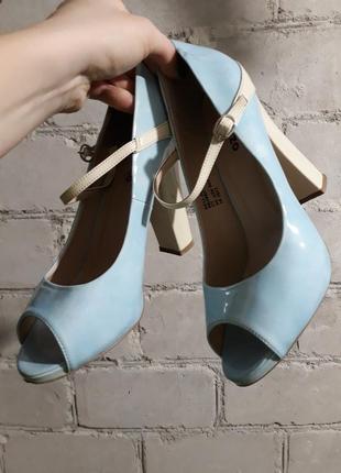 Нежные туфли с открытым носком) стелька 25.5