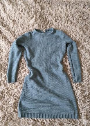 Стильне вязане платтячко графітового кольору