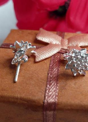 Серьги-гвоздики,серебро 9253
