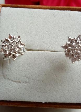 Серьги-гвоздики,серебро 9255
