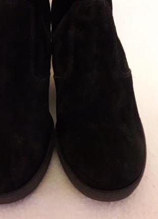 Замшевые ботинки, сапоги на танкетке фирмы nero giardini ( италия) р. 38 стелька 25 см4