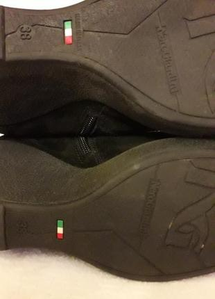 Замшевые ботинки, сапоги на танкетке фирмы nero giardini ( италия) р. 38 стелька 25 см8